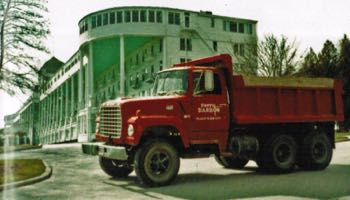 Grand Hotel and Darrow Bros. Excavating Truck